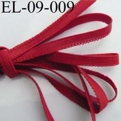élastique picot plat boucles couleur rouge diorine largeur 9 mm prix au mètre