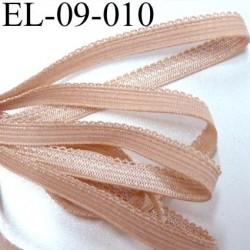 élastique picot plat boucles couleur chair largeur 9 mm prix au mètre