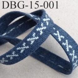 Destockage sangle ruban coton et synthétique très solide couleur bleu largeur 1.5 cm épaisseur 2 mm solide prix au mètre