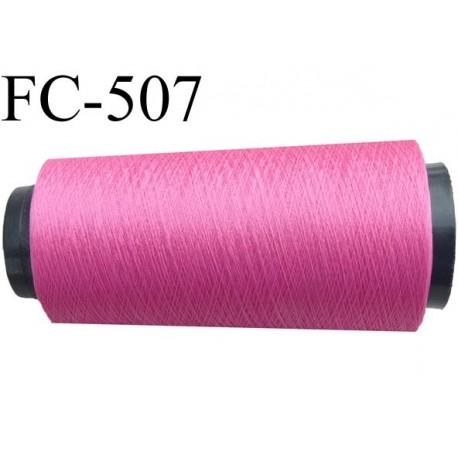 Cone de fil très résistant n° 35 polyester continu rose fushia brillant superbe très solide 1000 mètres bobiné en France