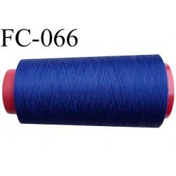 Cone de fil mousse polyester texturé fil n° 120 couleur bleu cone de 1000 mètres bobiné en France
