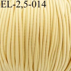 élastique cordon très belle qualité et très résistant couleur jaune clair largeur 2,5 mm prix au mètre