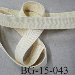 biais sergé 100 % coton superbe souple et doux galon ruban couleur écru largeur 15 mm prix au mètre