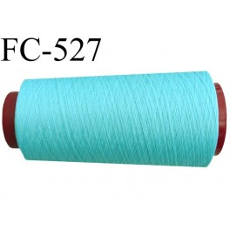 cone de fil mousse polyester fil n 120 couleur bleu vert lagon cone de 2000 m tres bobin en. Black Bedroom Furniture Sets. Home Design Ideas