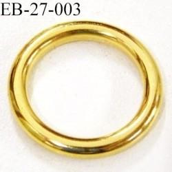 Anneau en métal doré couleur or diamètre extérieur 27 mm diamètre intérieur 20 mm épaisseur 3.7 mm