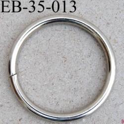 Anneau en métal couleur chromé diamètre extérieur 36 mm diamètre intérieur 30 mm épaisseur 3.2 mm