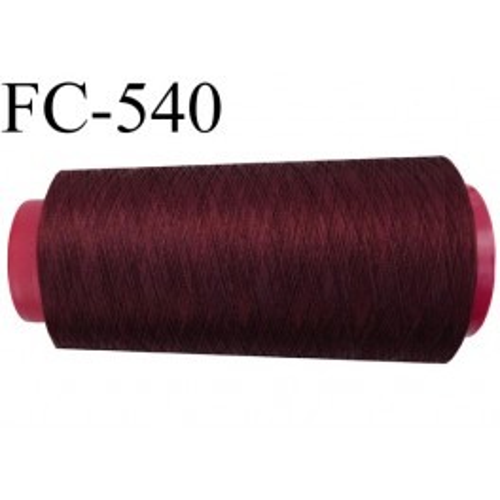 cone de fil tr s r sistant n 35 polyester continu couleur lie vin bordeau fonc tirant sur le. Black Bedroom Furniture Sets. Home Design Ideas