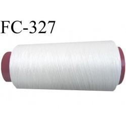 Cone de fil à broder et à coudre polyester continu fil n°120 couleur naturel longueur du cone 5000 mètres bobiné en France