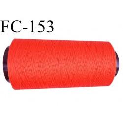 Cone de fil mousse polyamide fil n° 120 couleur orange   longueur du cone 2000 mètres bobiné en France