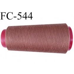 CONE de fil polyester fil n° 180 couleur marron clair  longueur de 2000 mètres bobiné en France