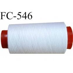 CONE de fil polyester fil n° 180 couleur blanc  longueur de 1000 mètres bobiné en France
