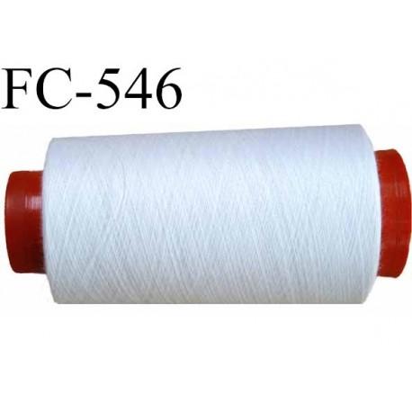 CONE de fil polyester fil n° 180 couleur blanc  longueur de 5000 mètres bobiné en France