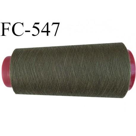 cone de fil polyester fil n 120 couleur vert kaki plus clair que la ref fc 095 longueur de 2000. Black Bedroom Furniture Sets. Home Design Ideas