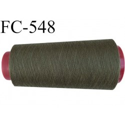 CONE de fil polyester fil n° 180 couleur vert kaki  longueur de 2000 mètres bobiné en France
