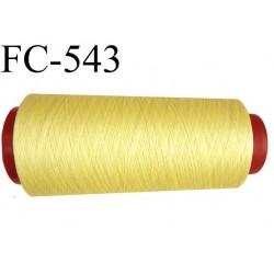 Cone de fil très résistant n° 35 polyester continu couleur jaune brillant superbe très solide  1000 mètres bobiné en France
