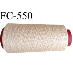 Cone de fil polyester fil n°120 couleur peau beige longueur du cone 5000 mètres bobiné en France