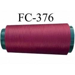 Cone de fil mousse polyamide fil n°120 couleur bordeau longueur du cone 1000 mètres bobiné en France