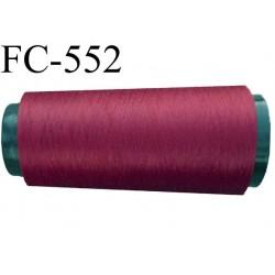 CONE de fil mousse polyamide fil fin n° 180 couleur bordeau  longueur de 1000 mètres bobiné en France