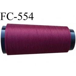 cone de fil polyester fil n°120 couleur bordeaux longueur du cone 1000 mètres bobiné en France