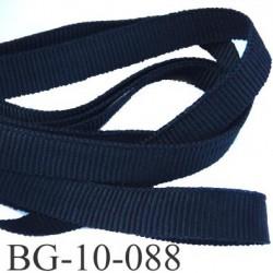 Gallon ruban passementerie gros grain couleur noir très solide souple  double face largeur 10 mm prix au mètre