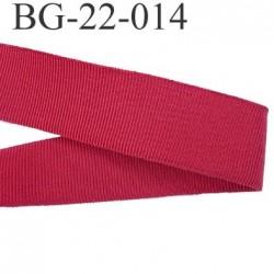 Galon ruban passementerie gros grain synthétique  largeur 22 mm couleur rouge très très solide prix au mètre