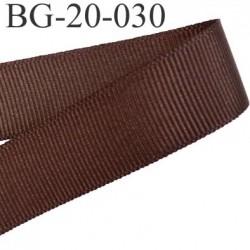 Galon ruban passementerie gros grain synthétique  largeur 20 mm couleur marron très très solide prix au mètre