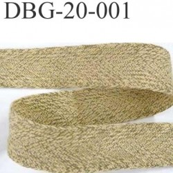biais ruban galon ganse  a plat coton haut de gamme couleur kaki  largeur 2 cm épaisseur 1.2 mm très solide prix au mètre