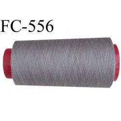 cone de fil polyester fil n°120 couleur gris longueur du cone 2000 mètres bobiné en France
