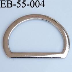 Etrier boucle largeur extérieur 55 mm largeur intérieur 41 mm hauteur 40 mm en métal chromé