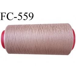 Cone de fil mousse polyamide fil n° 100/2 couleur chair ou marron glacé clair longueur 1000 mètres bobiné en  France