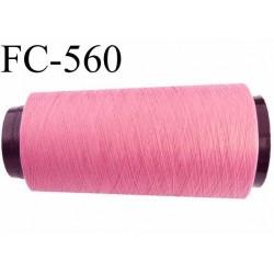 Cone de fil mousse polyamide fil n° 120 couleur rose malabar longueur 5000 mètres bobiné en  France