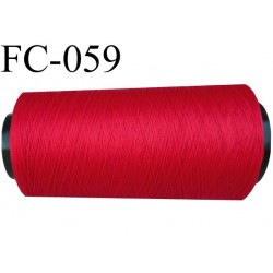 cone de fil mousse polyamide fil n°120 couleur rouge longueur du cone 1000 mètres bobiné en France