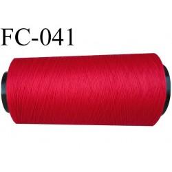 Cone de fil mousse polyester texturé fil n° 120 couleur rouge cone de 2000 mètres bobiné en France