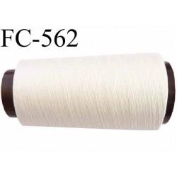 Cone de fil mousse polyester n° 110 couleur naturel  longueur 2000  mètres bobiné en France