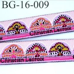 galon ruban passementerie Christian Lacroix multi couleur magnifique très beau  largeur 16 mm prix au mètre