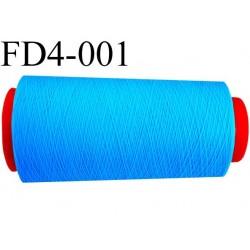 destockage  Cone de fil mousse polyamide n° 140 couleur turquoise longueur  2000 mètres bobiné en France