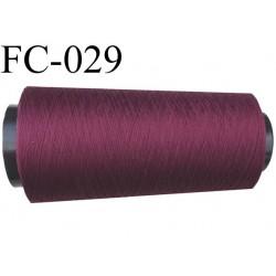 Cone de fil mousse polyamide fil n° 120 couleur bordeau prune longueur 2000 mètres bobiné en France