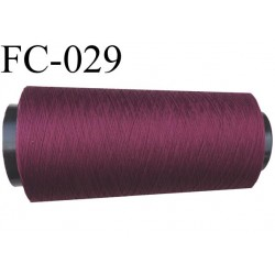 Cone de fil mousse polyamide fil n° 120 couleur bordeau prune longueur 5000 mètres bobiné en France