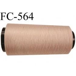 Cone de fil mousse polyamide FIL n° 100 / 2 couleur peau longueur de 5000 mètres bobiné en France