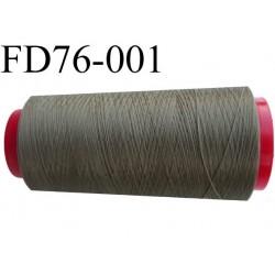 Déstockage Cone de fil mousse  polyester texturé fil n° 165 couleur vert kaki longueur 2000 mètres bobiné en France