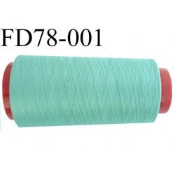 Déstockage Cone de fil mousse  polyester  fil n° 165 couleur vert clair longueur 2000 mètres bobiné en France