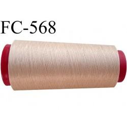 Cone de fil mousse polyester  fil n° 110 couleur chair cone de 2000 mètres bobiné en France