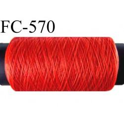 bobine de fil mousse  polyester fil n° 160 couleur rouge longueur 500  mètres bobiné en France