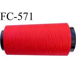 Cone de fil n° 120 polyester couleur rouge longueur du Cone 2000 mètres bobiné en France