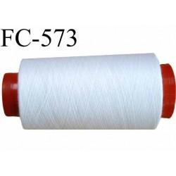 Cone de fil polyester n° 100 couleur blanc longueur du cone 5000 mètres bobiné en France