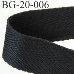 biais sergé coton souple et doux  galon ruban couleur noir largeur 20 mm prix au mètre
