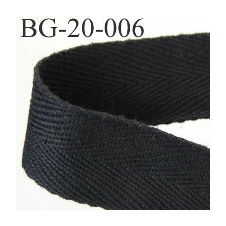 biais sergé coton galon ruban couleur noir largeur 20 mm vendu au mètre