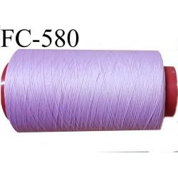 Cone de fil mousse polyamide fil n° 120 couleur violine lilas parme  clair   longueur du cone 1000 mètres bobiné en France