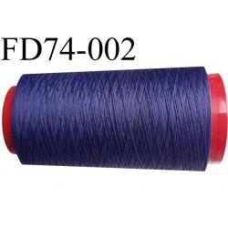 DESTOCKAGE Cone de fil mousse polyamide fil n° 120 couleur bleu longueur du cone 1000 mètres bobiné en France