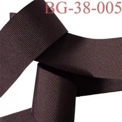 galon ruban gros grain couleur marron très très solide et souple polyester largeur 38 mm prix au mètre